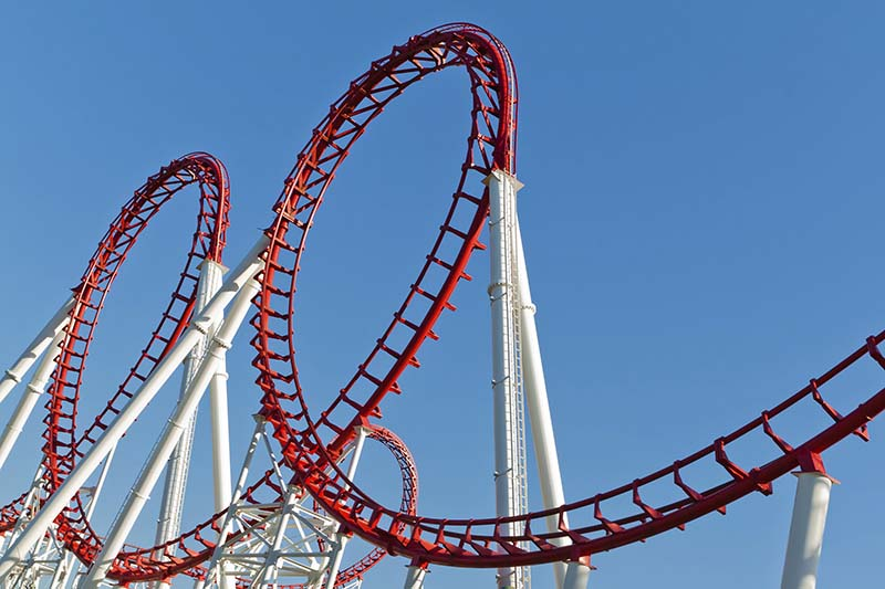 The history of rollercoasters and steel