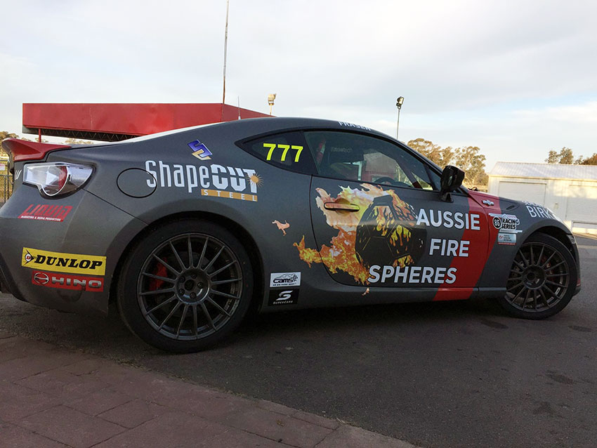 We're supporting Declan Fraser at the Toyota 86 Racing Series