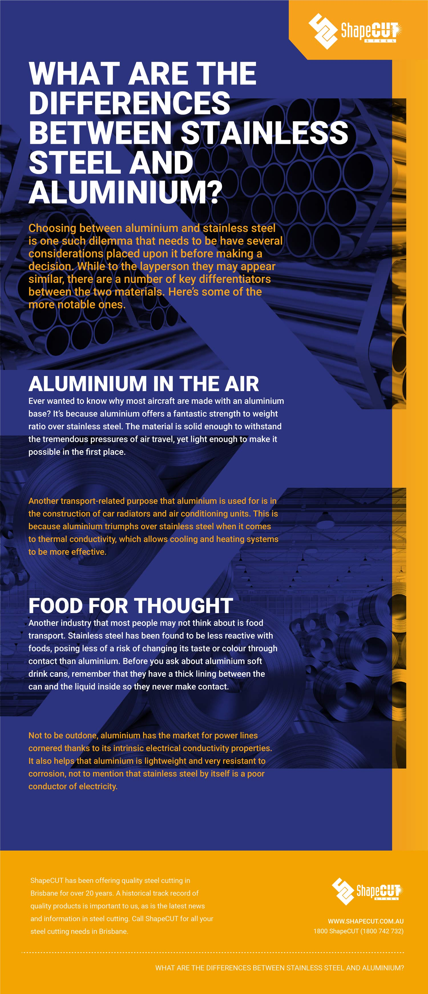 Differences between stainless steel and aluminium