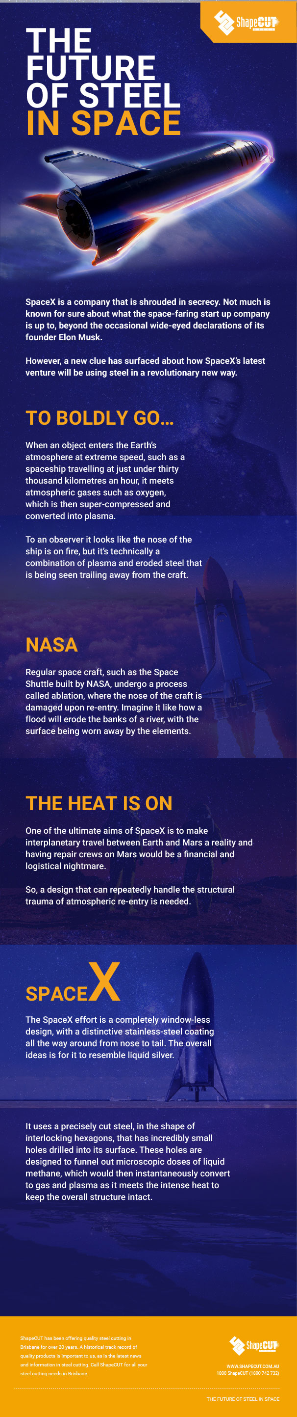steel in space infographic