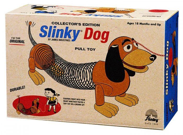 Steel slinky dog